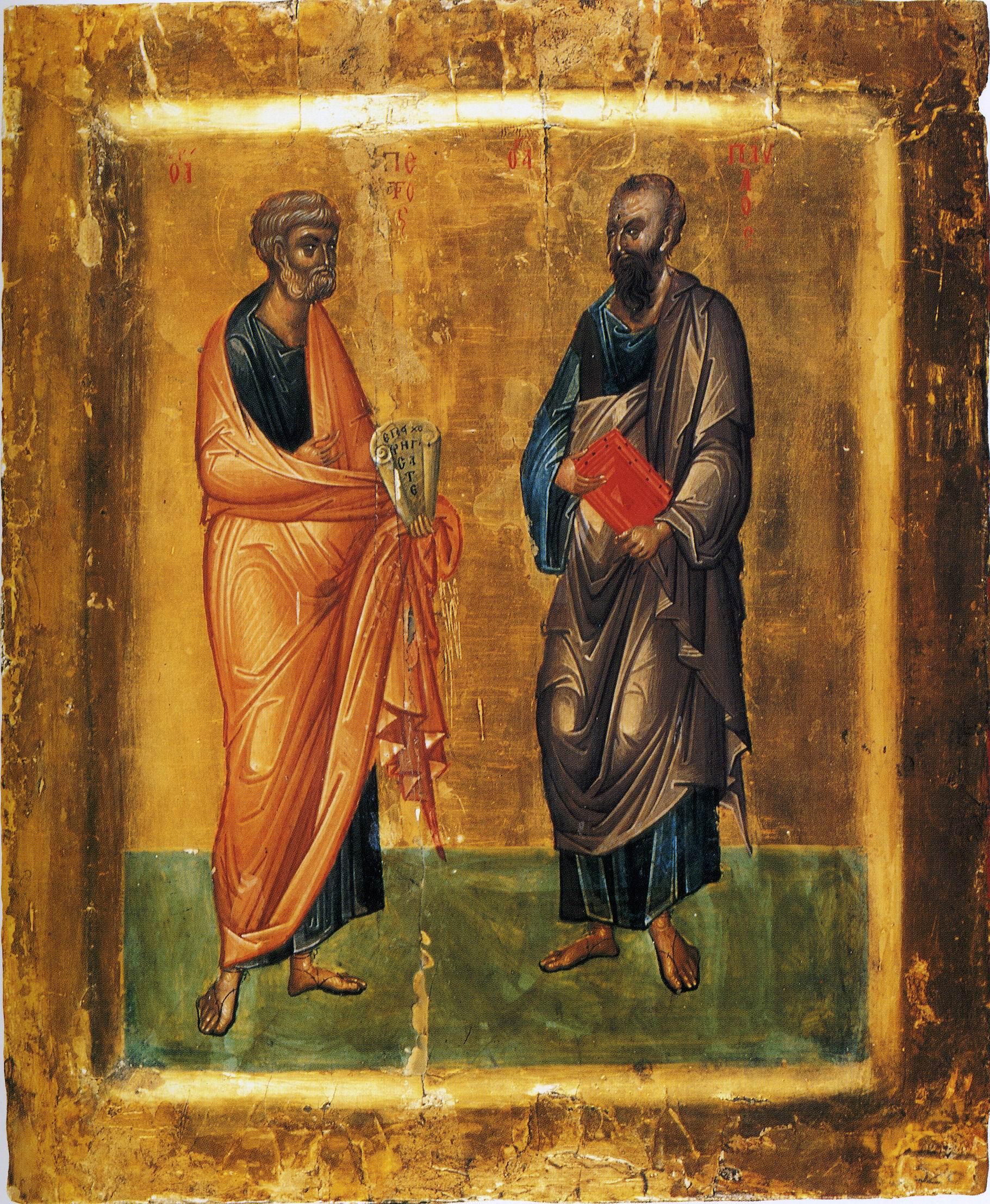 Lundi 12 juillet 2021— Mémoire des saints, glorieux et illustres apôtres Pierre et Paul, les premiers coryphées